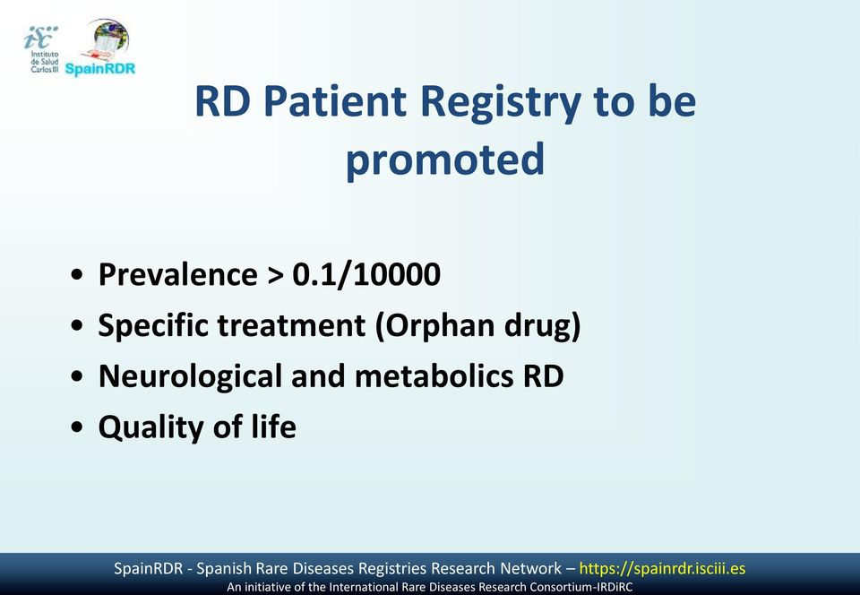 and metabolics RD Quality of life SpainRDR - Spanish