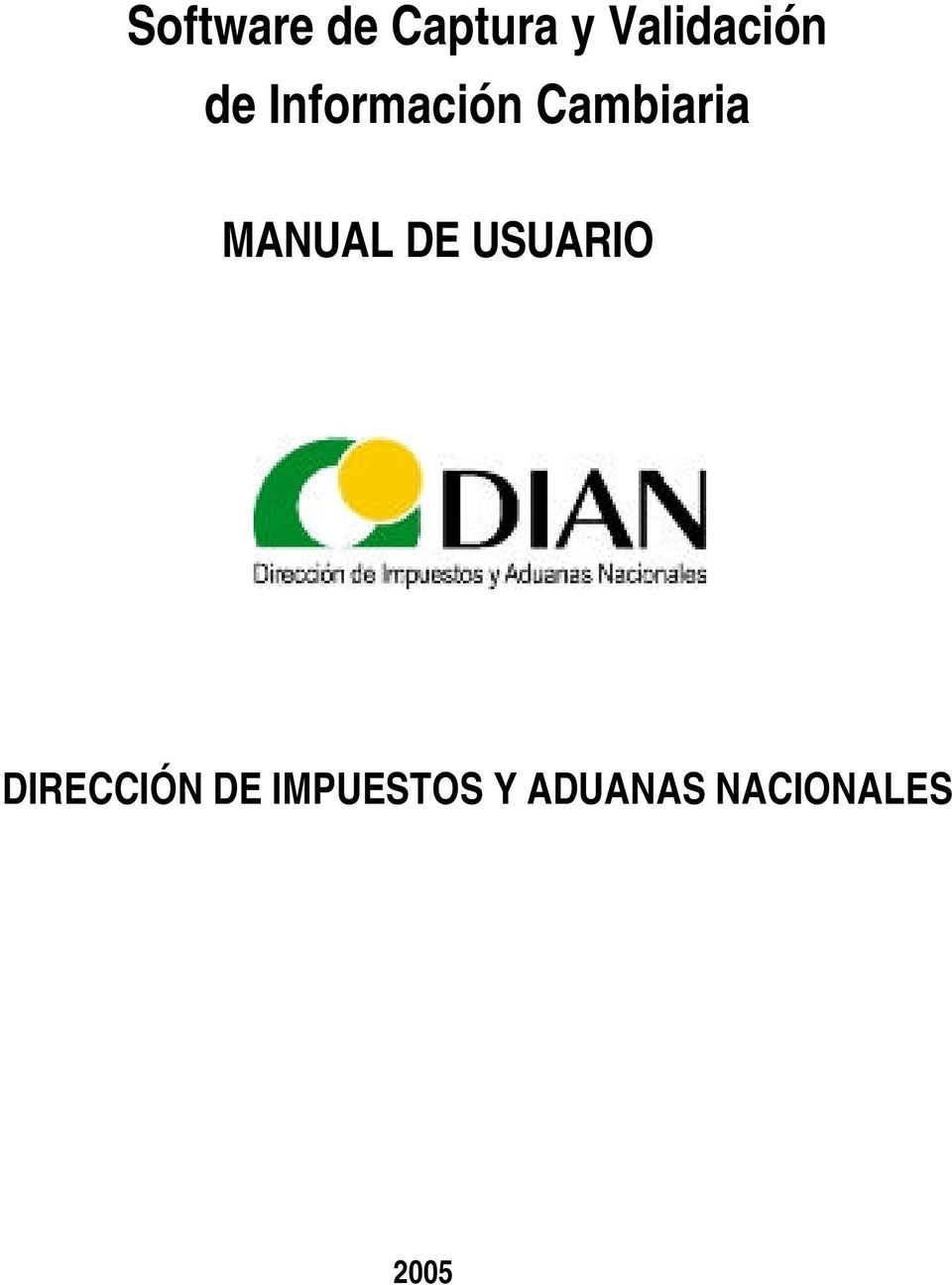 Cambiaria MANUAL DE USUARIO