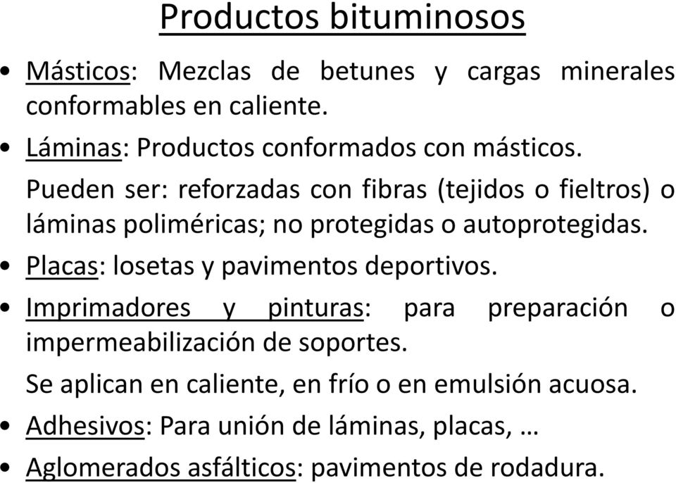 Tema 10 materiales bituminosos aislantes y pinturas pdf for Materiales aislantes de frio