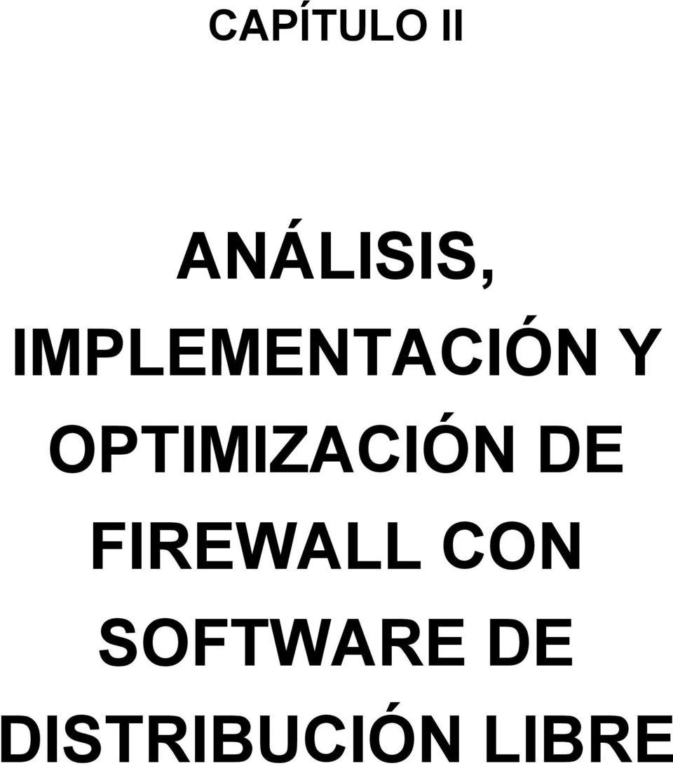OPTIMIZACIÓN DE FIREWALL