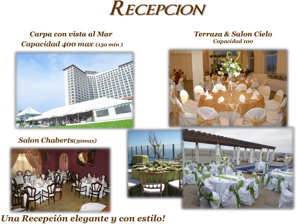 Salon Cielo Capacidad 100 Salon