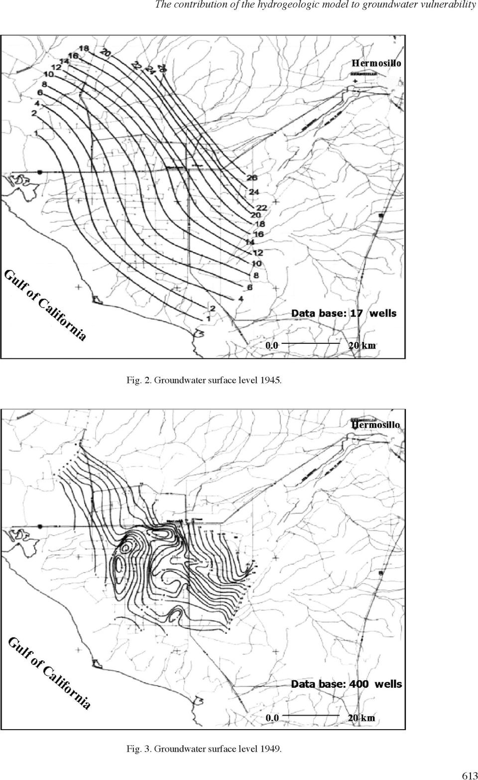 2. Groundwater surface level 1945. Fig.