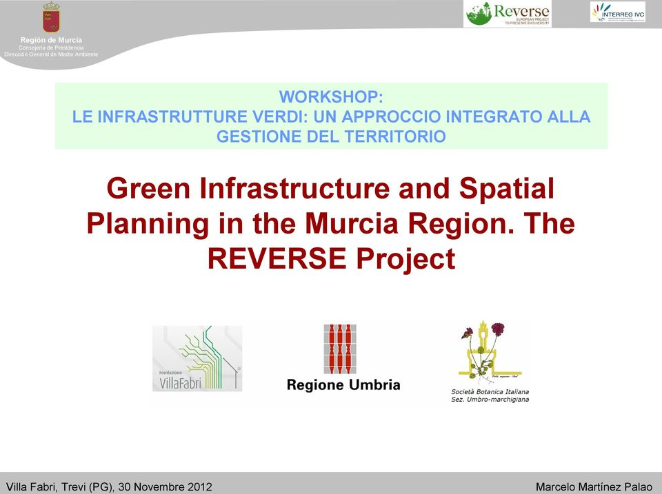 TERRITORIO Green Infrastructure and