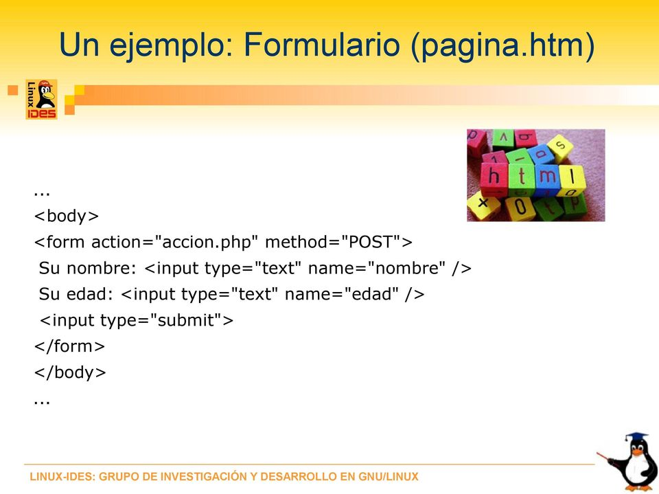 "php"" method=""post""> Su nombre: <input type=""text"""