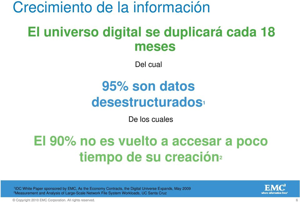 creación 2 1 IDC White Paper sponsored by EMC, As the Economy Contracts, the Digital Universe