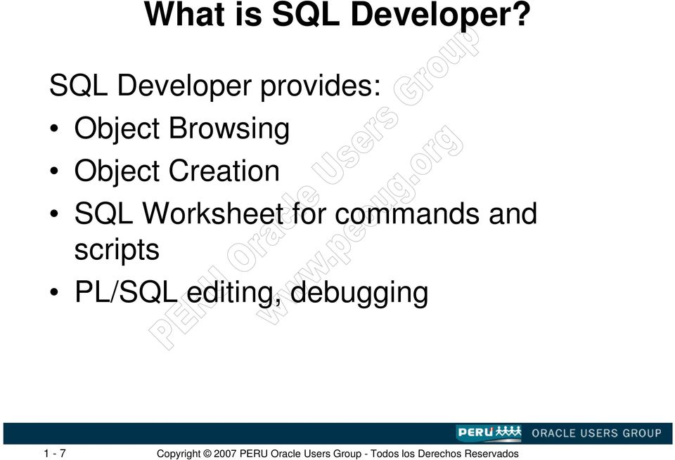 Browsing Object Creation SQL