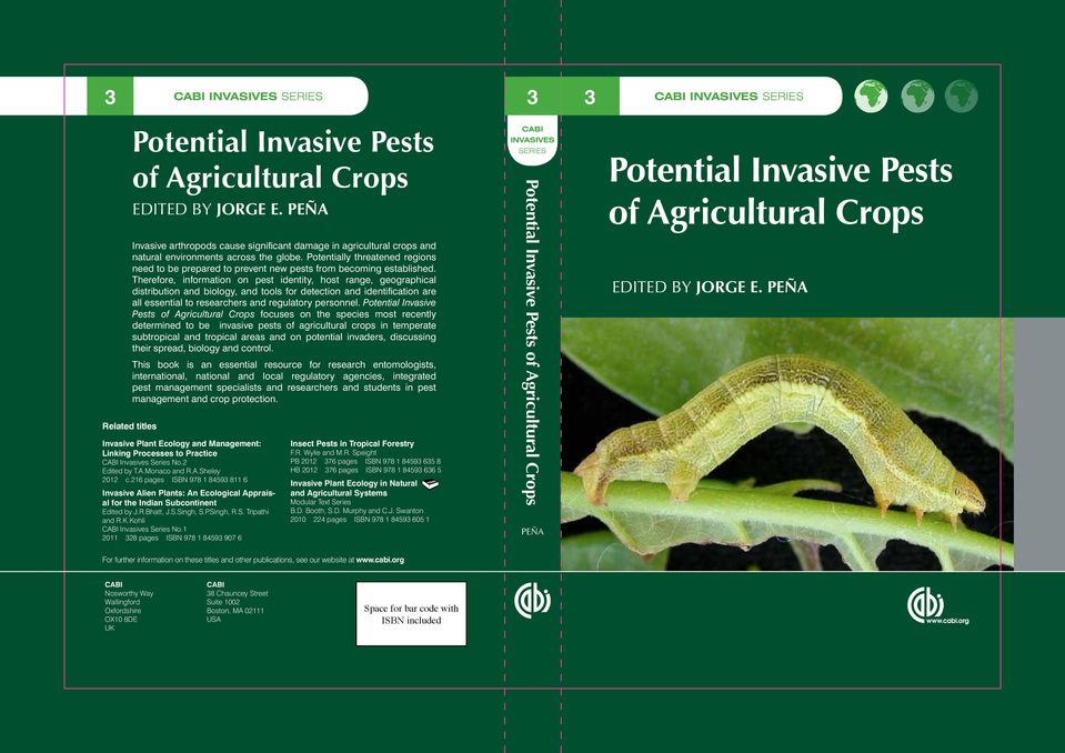 Potentially threatened regions need to be prepared to prevent new pests from becoming established.