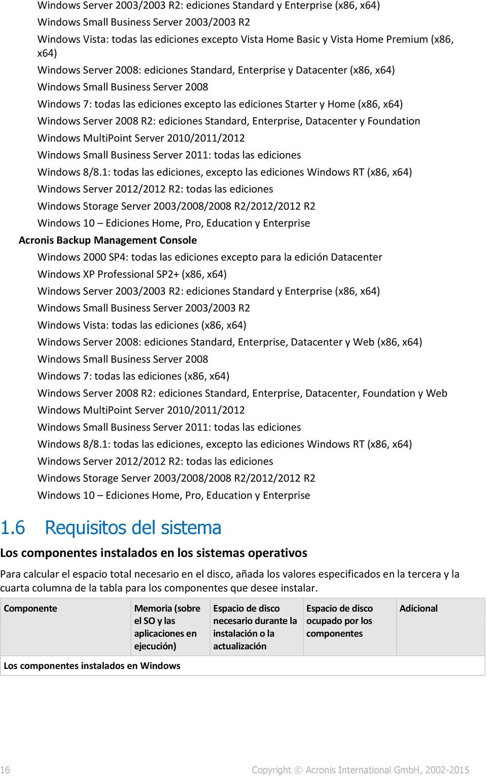 x64) Windows Server 2008 R2: ediciones Standard, Enterprise, Datacenter y Foundation Windows MultiPoint Server 2010/2011/2012 Windows Small Business Server 2011: todas las ediciones Windows 8/8.