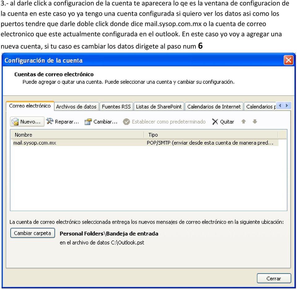 doble click donde dice mail.sysop.com.