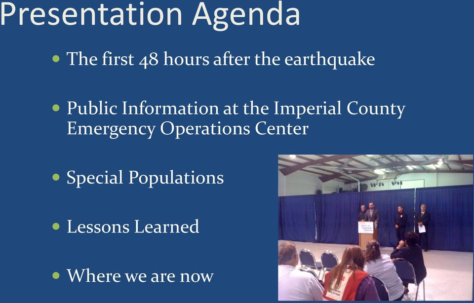 Imperial County Emergency Operations Center