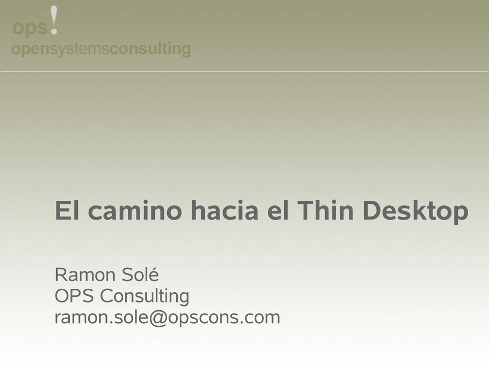 Solé OPS Consulting