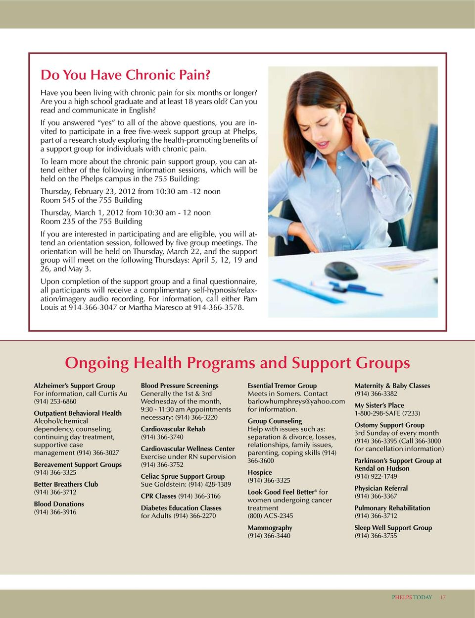 support group for individuals with chronic pain.