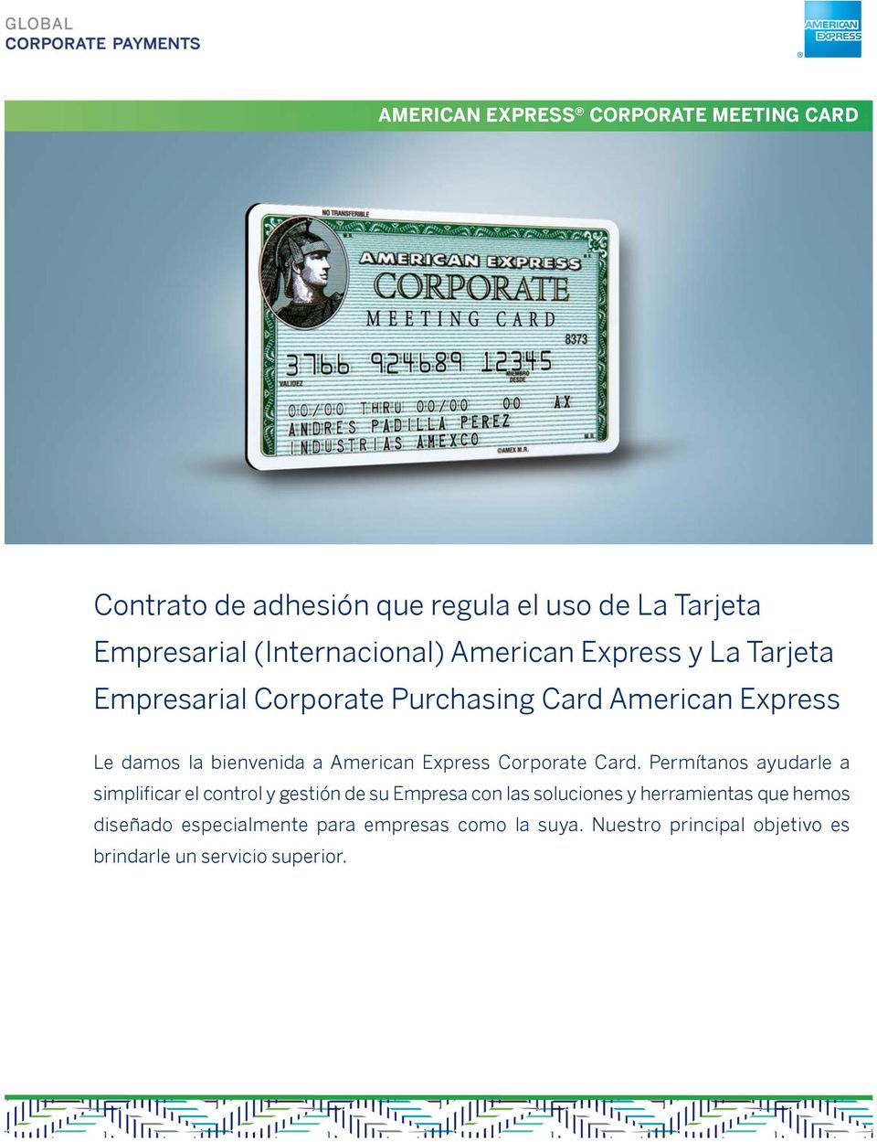 Express Corporate Card.