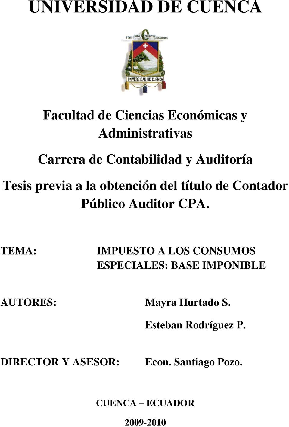 Auditor CPA.