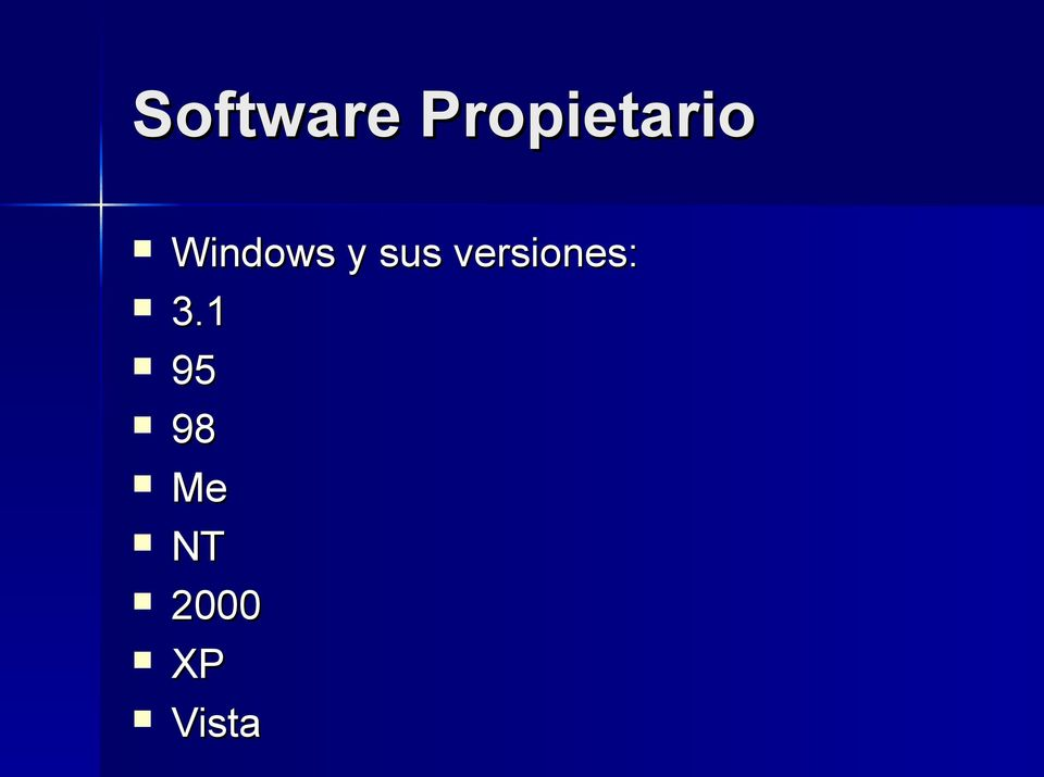 Windows y sus