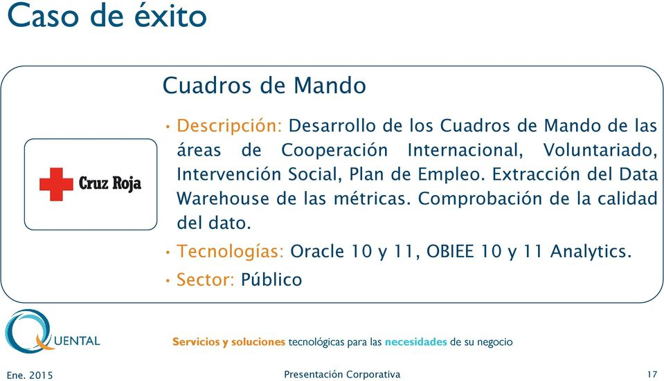 Empleo. Extracción del Data Warehouse de las métricas.