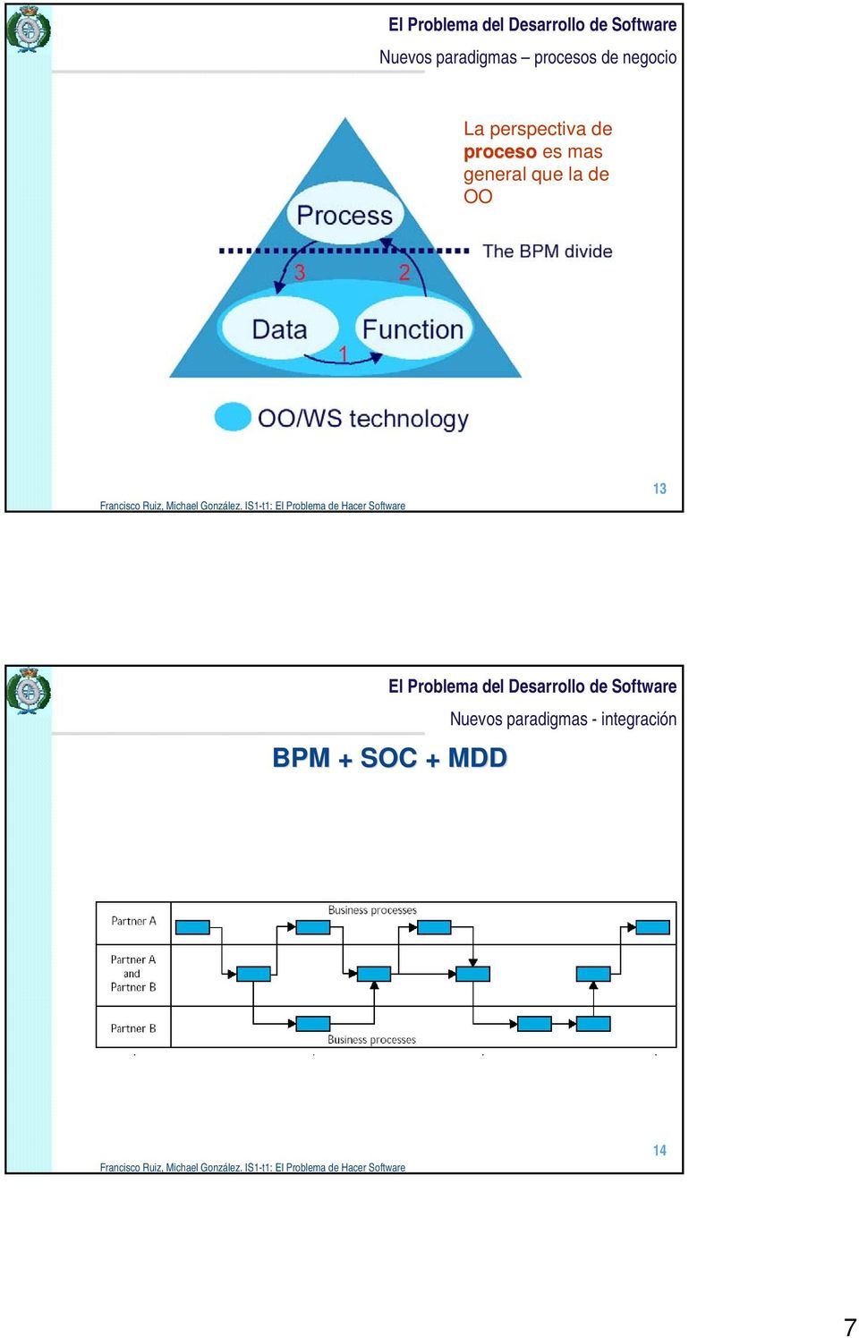 general que la de OO 13  - integración BPM + SOC + MDD