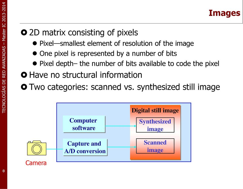pixel Have no structural information Two categories: scanned vs.