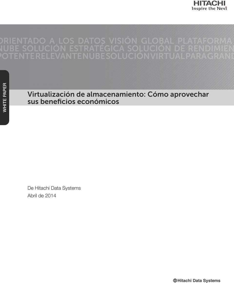 VIRTUAL PARA GRAND WHITE PAPER Virtualización de almacenamiento: