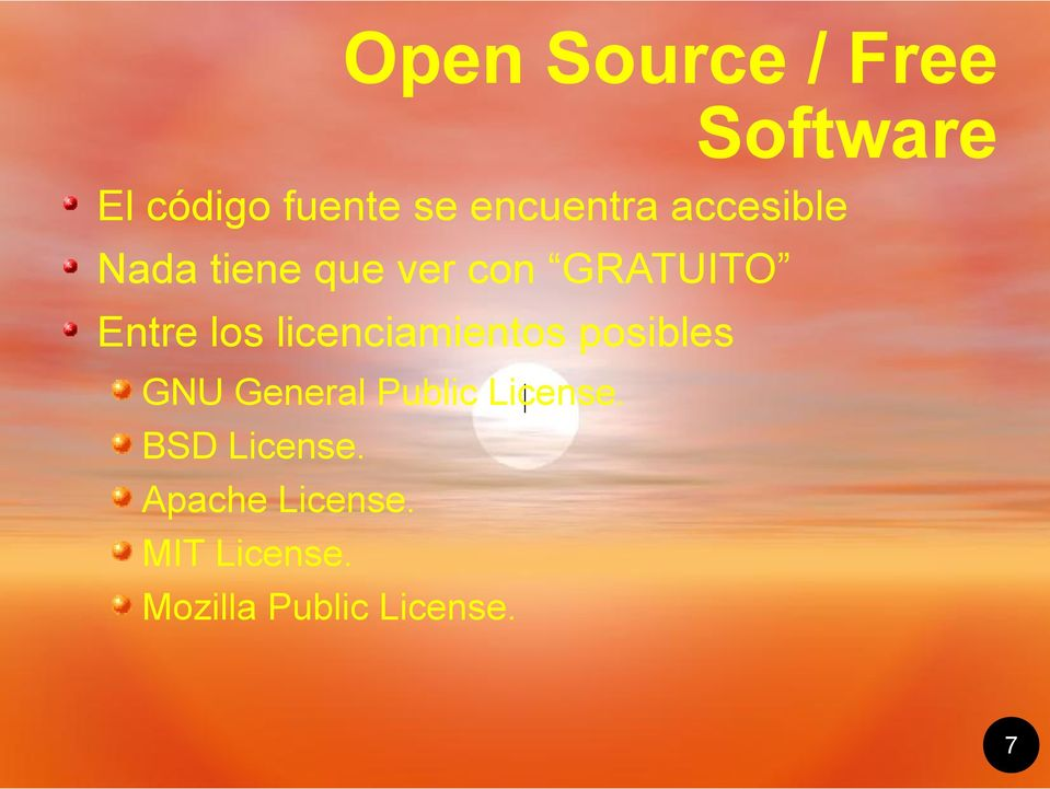 licenciamientos posibles GNU General Public License.