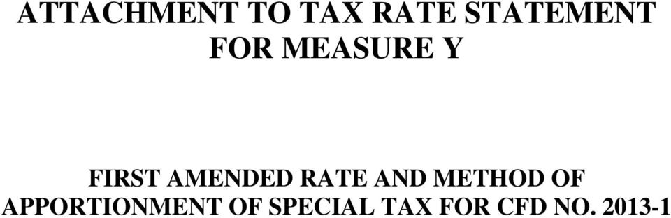AMENDED RATE AND METHOD OF