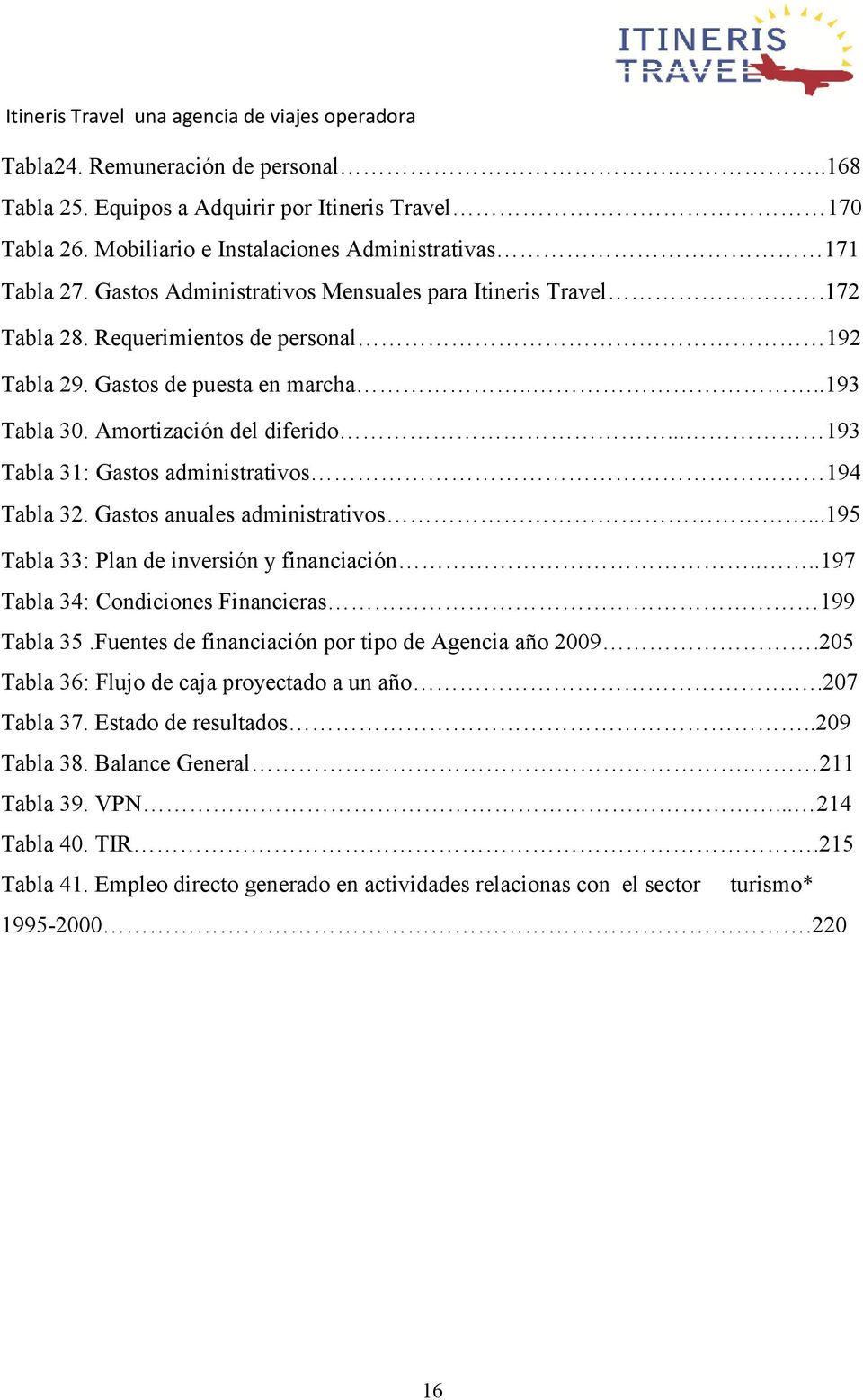 .. 193 Tabla 31: Gastos administrativos 194 Tabla 32. Gastos anuales administrativos...195 Tabla 33: Plan de inversión y financiación....197 Tabla 34: Condiciones Financieras 199 Tabla 35.