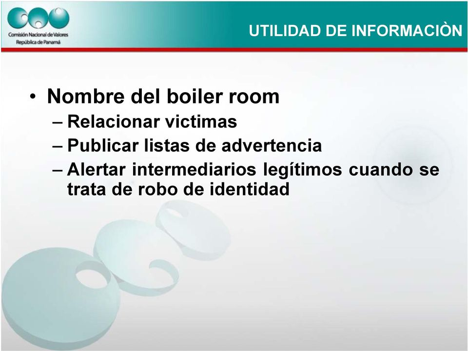 de advertencia Alertar intermediarios