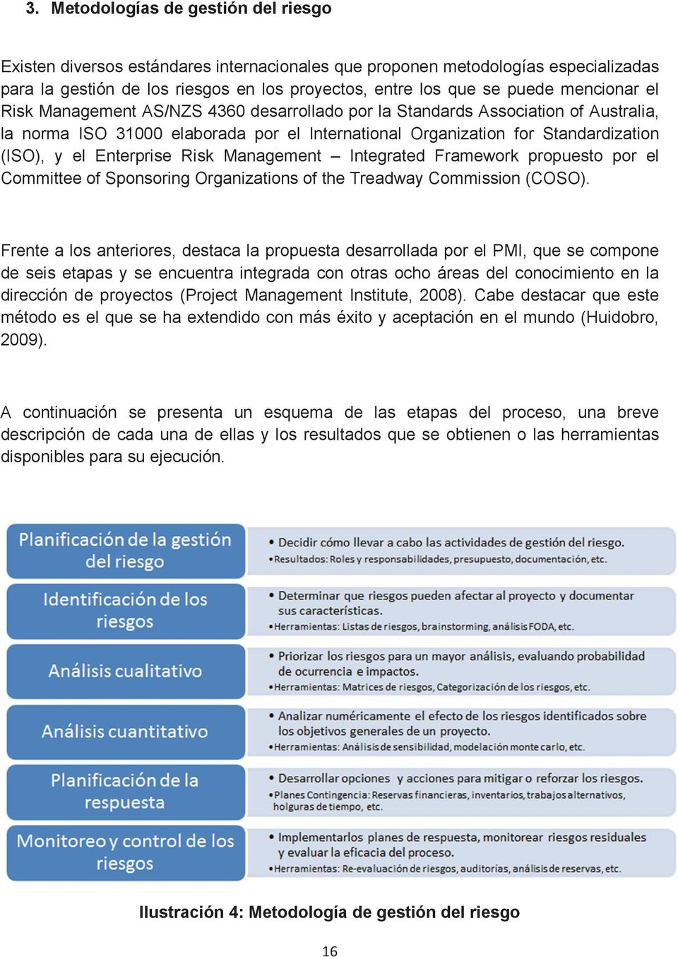 Enterprise Risk Management Integrated Framework propuesto por el Committee of Sponsoring Organizations of the Treadway Commission (COSO).