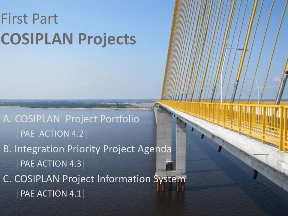 Integration Priority Project Agenda PAE