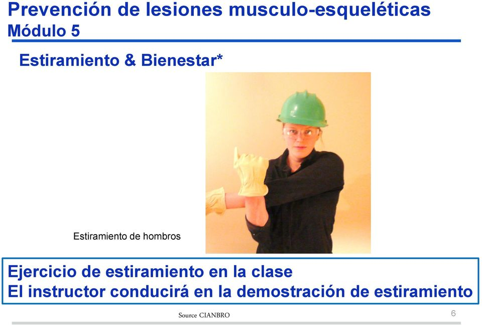 la clase El instructor conducirá en la