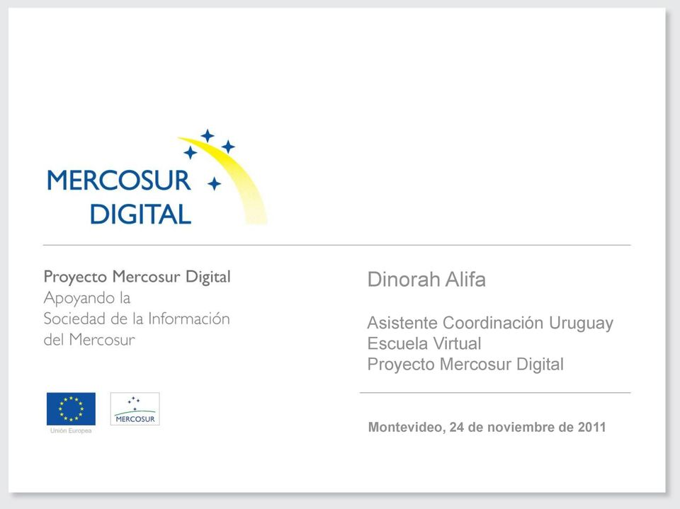 Virtual Proyecto Mercosur