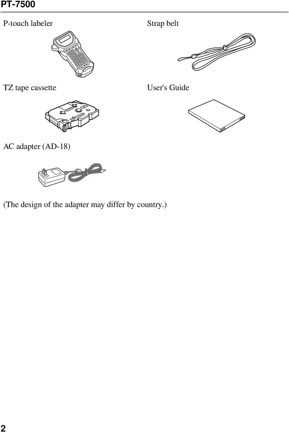 Guide AC adapter (AD-18) (The