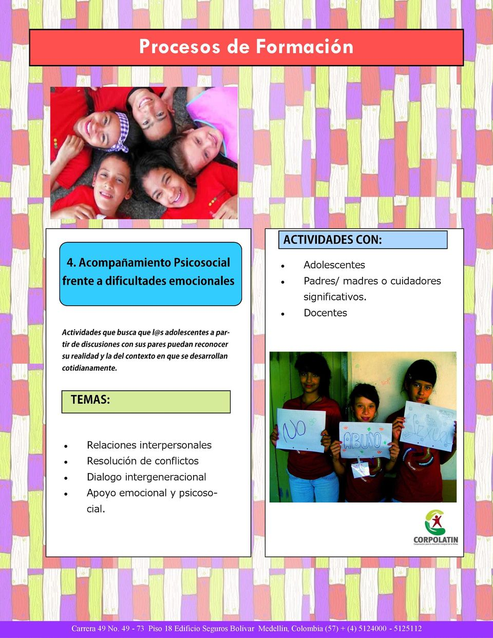 Docentes Relaciones interpersonales Resolucin de
