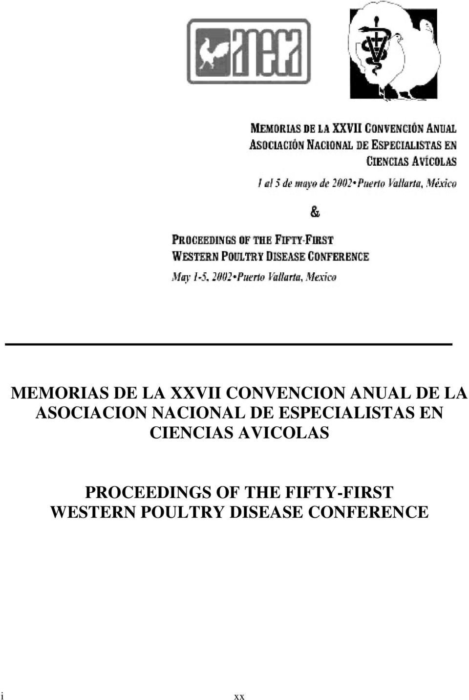 CIENCIAS AVICOLAS PROCEEDINGS OF THE