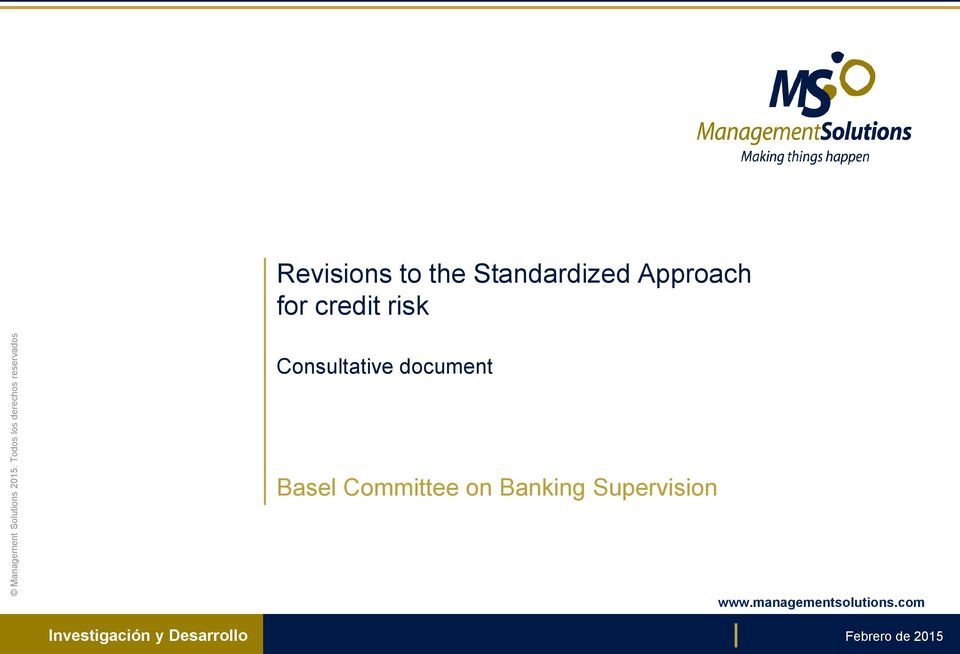 Approach for credit risk Consultative document Basel
