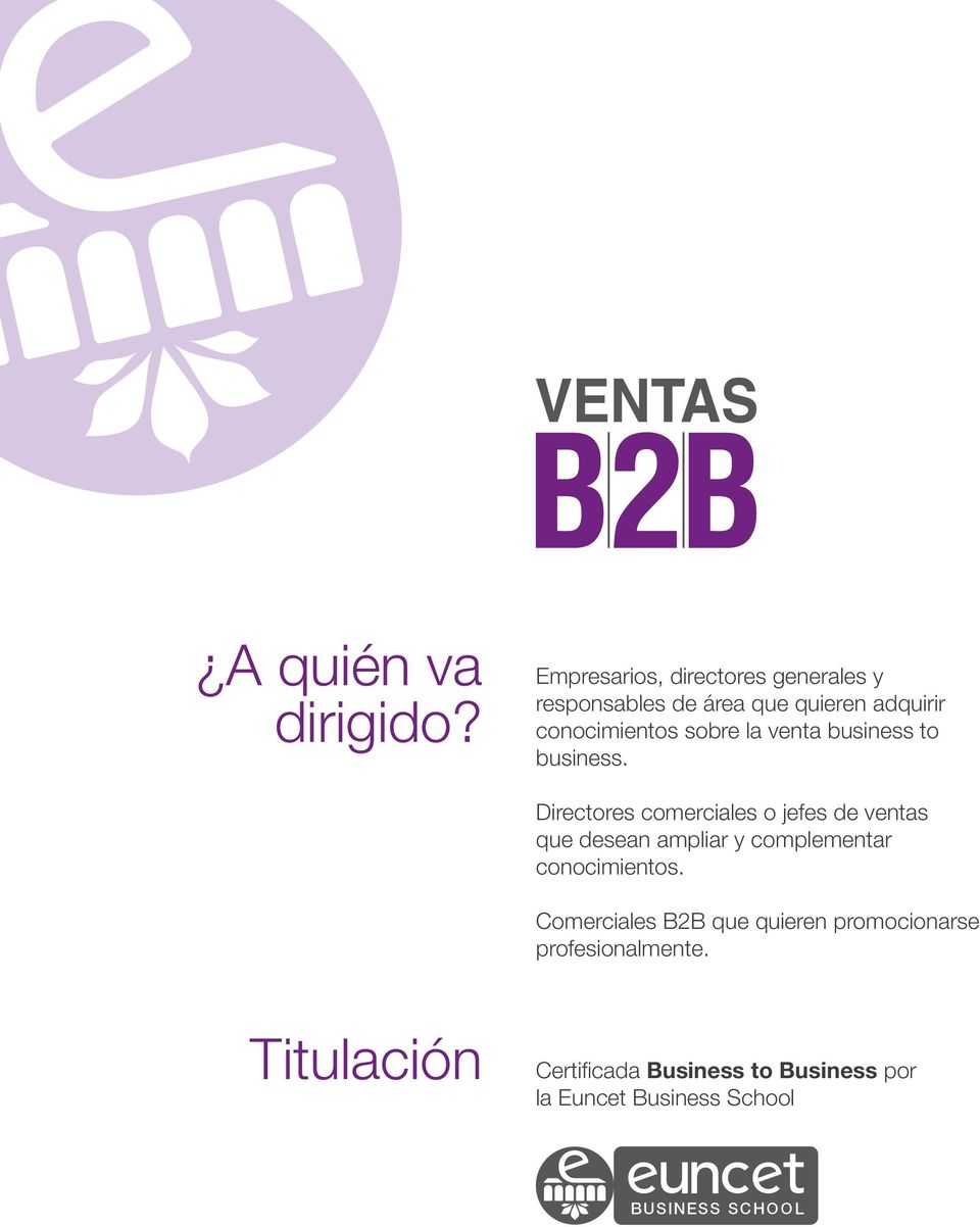 sobre la venta business to business.