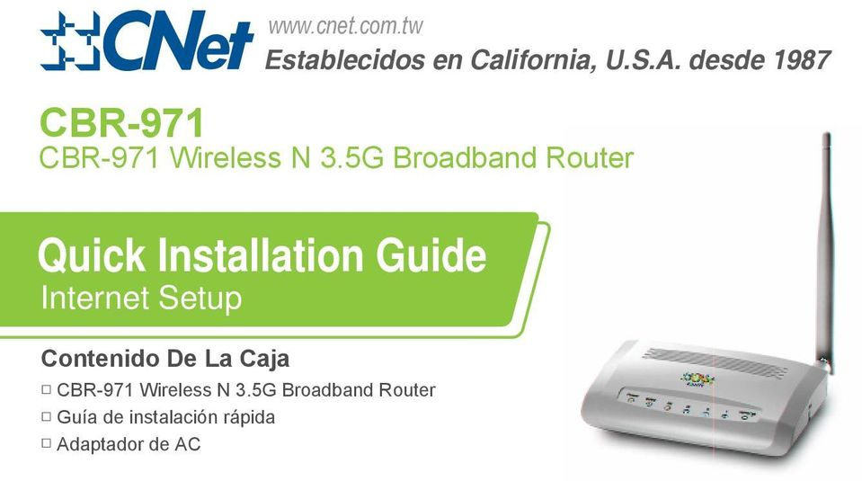 5G Broadband Router Quick Installation Guide Internet Setup