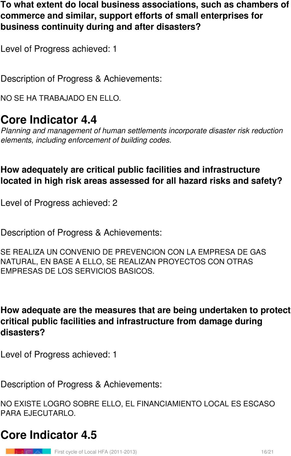 How adequately are critical public facilities and infrastructure located in high risk areas assessed for all hazard risks and safety?