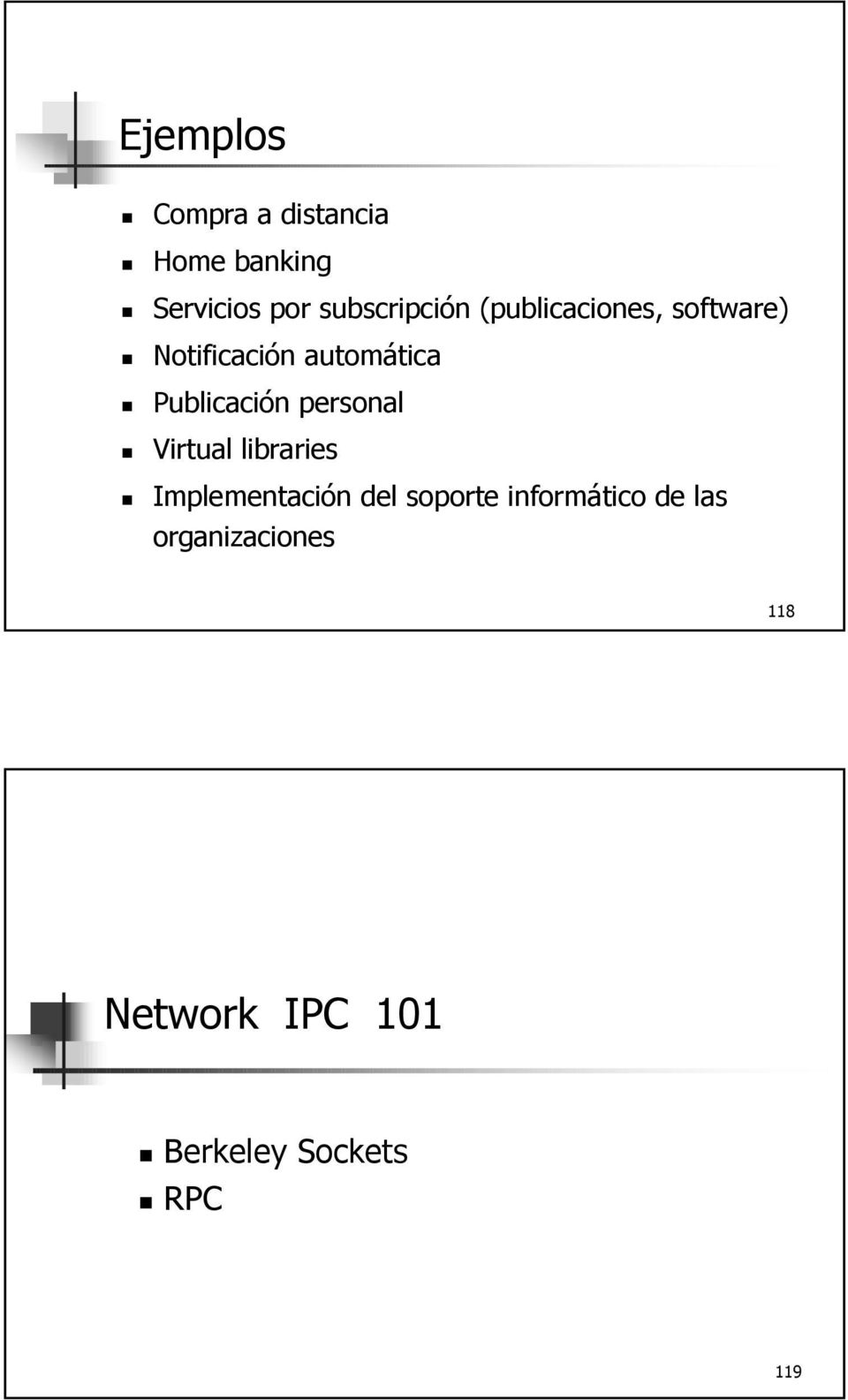 Publicación personal Virtual libraries Implementación del soporte