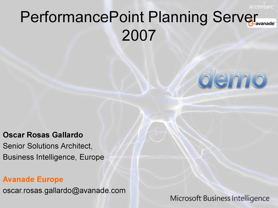 Architect, Business Intelligence, Europe