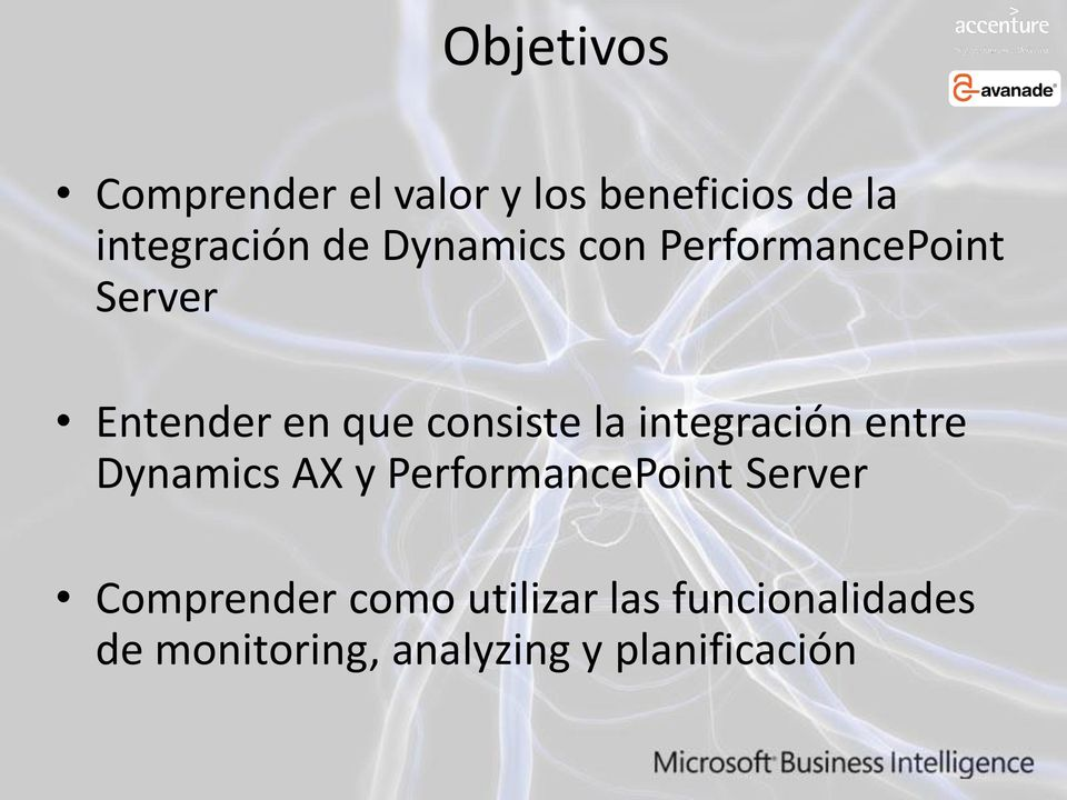 integración entre Dynamics AX y PerformancePoint Server Comprender
