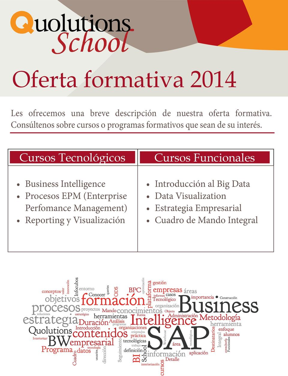 Cursos Tecnológicos Business Intelligence Procesos EPM (Enterprise Perfomance