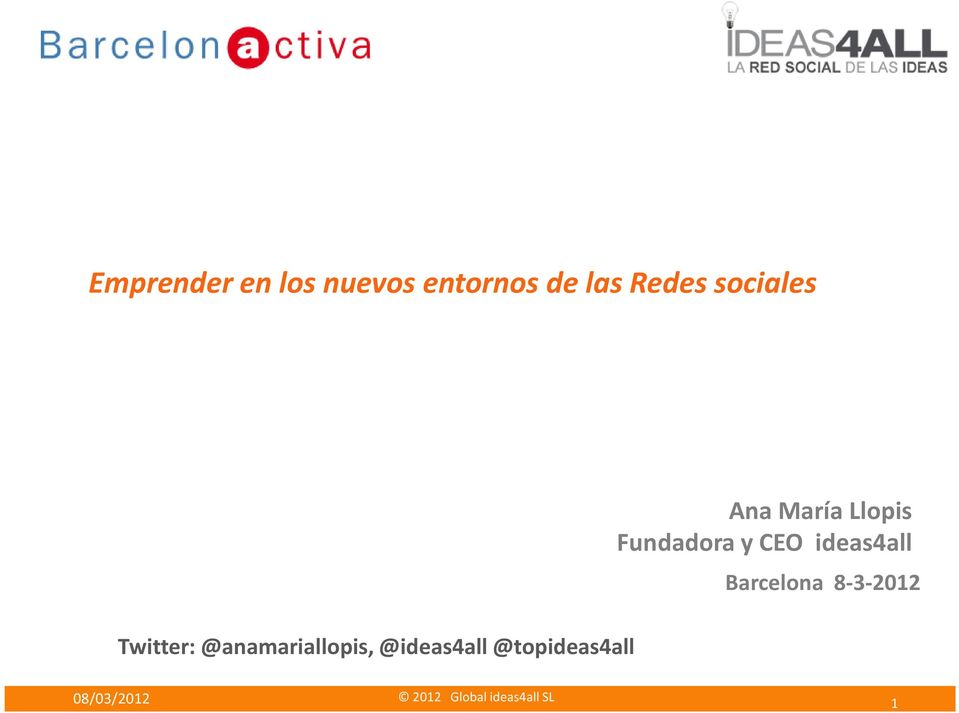 @ideas4all @topideas4all Ana María Llopis