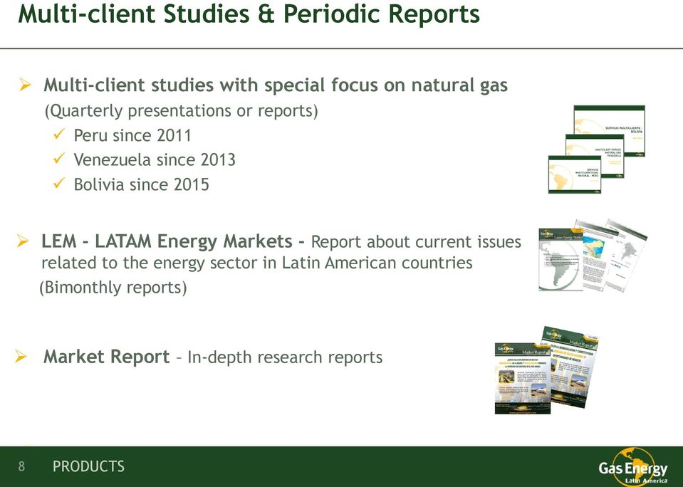 2015 LEM - LATAM Energy Markets - Report about current issues related to the energy sector