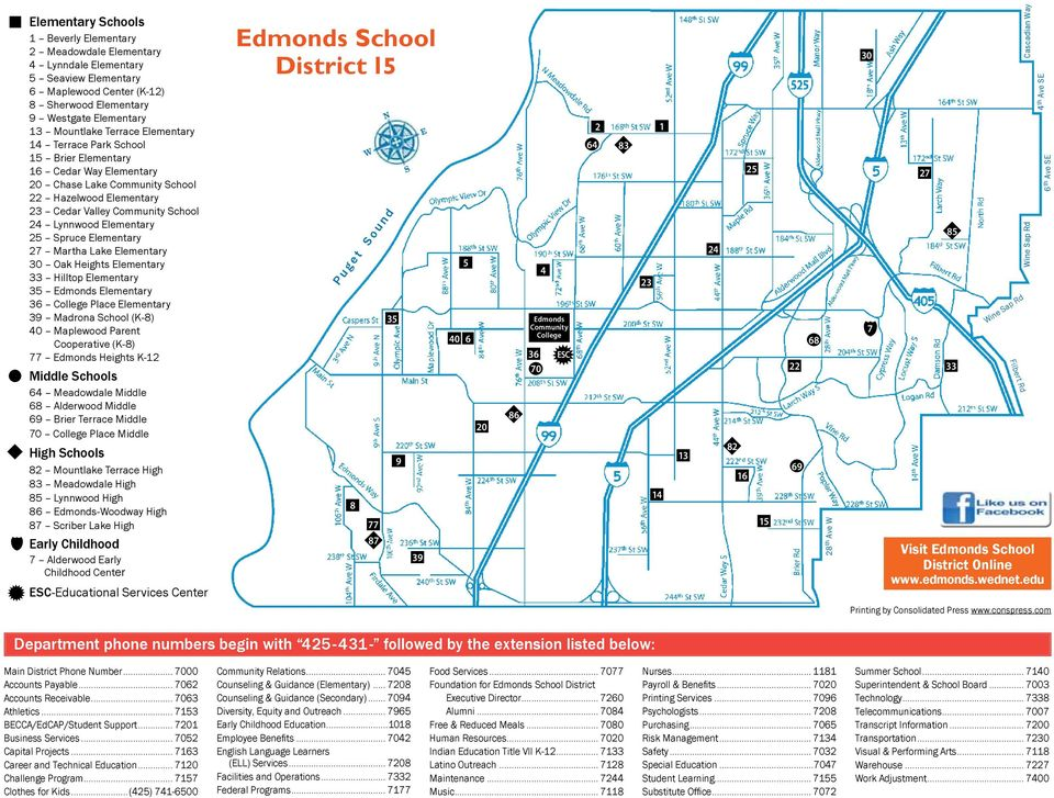Elementary 27 Martha Lake Elementary 30 Oak Heights Elementary 33 Hilltop Elementary 35 Edmonds Elementary 36 College Place Elementary 39 Madrona School (K-8) 40 Maplewood Parent Cooperative (K-8) 77