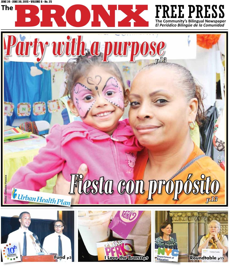 Periódico Bilingüe de la Comunidad Party with a purpose p13