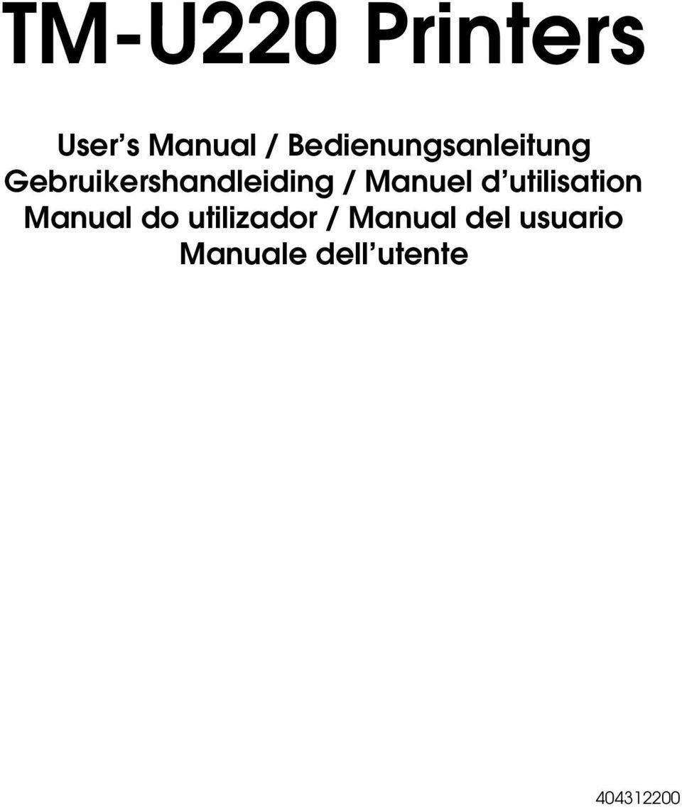 / Manuel d utilisation Manual do