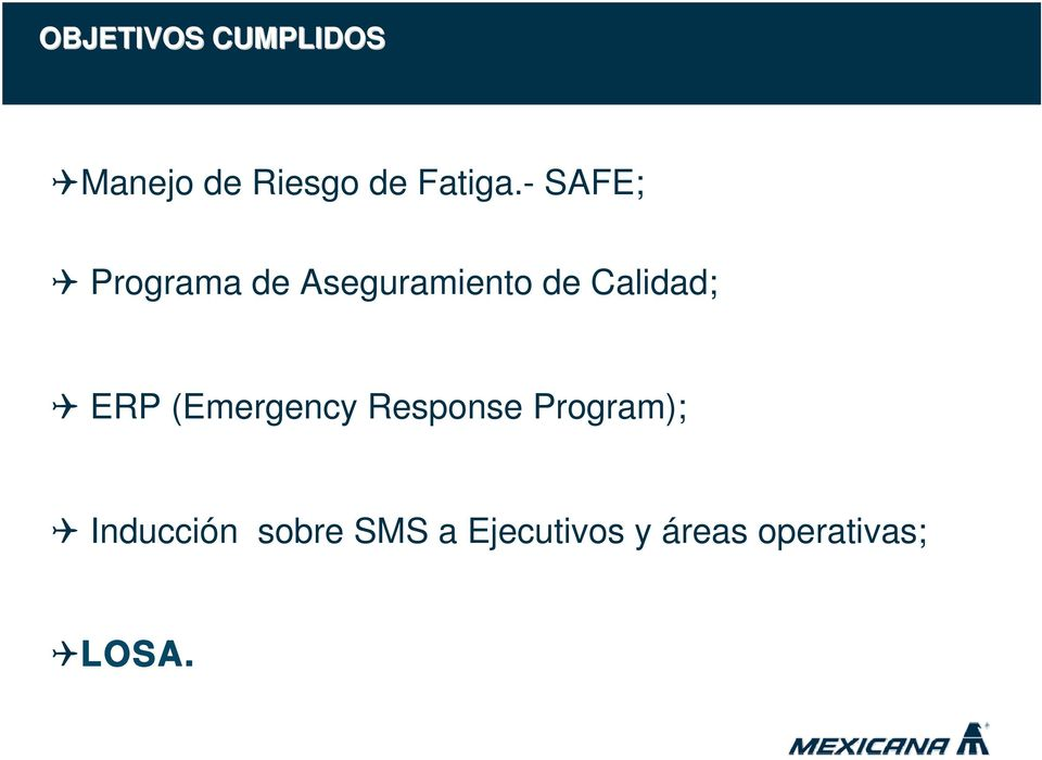 ERP (Emergency Response Program); Inducción