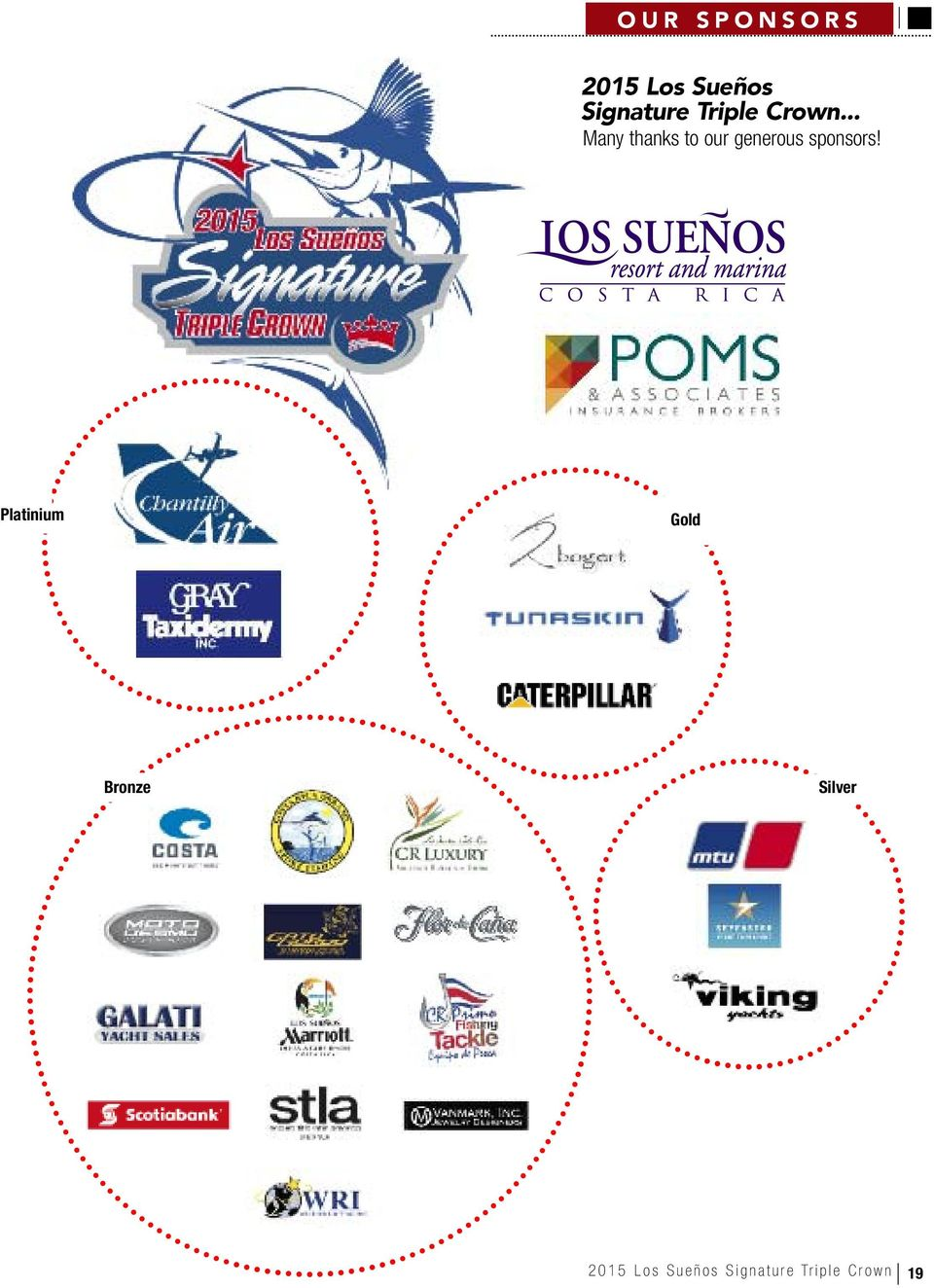 .. Many thanks to our generous sponsors!