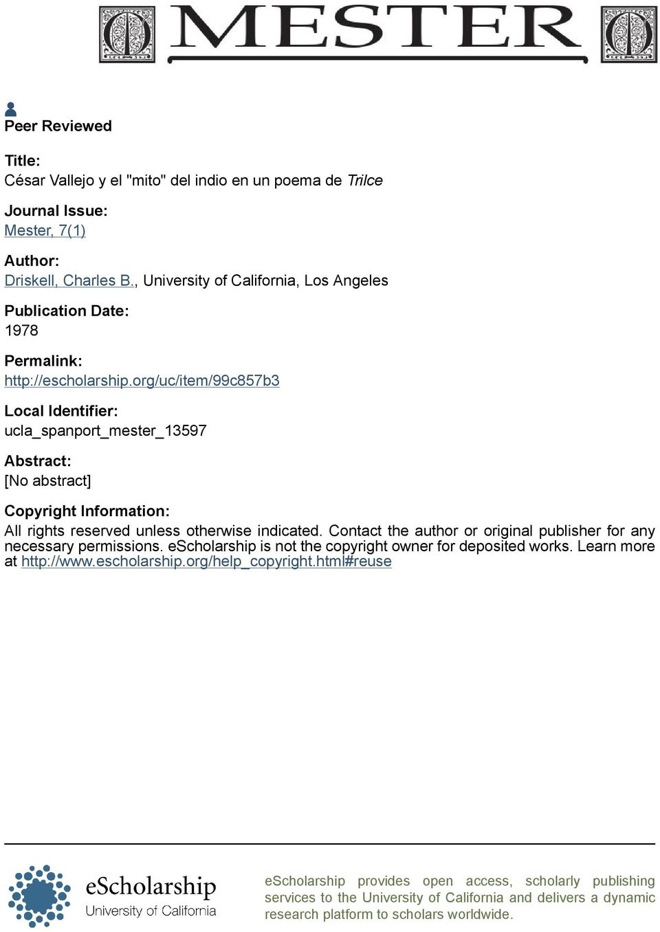 org/uc/item/99c857b3 Local Identifier: ucla_spanport_mester_13597 Abstract: [No abstract] Copyright Information: All rights reserved unless otherwise indicated.